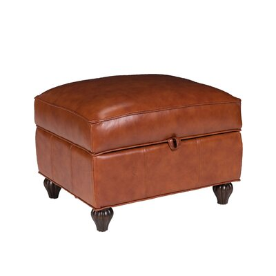 Opulence Home Benjamin Leather Storage Ottoman