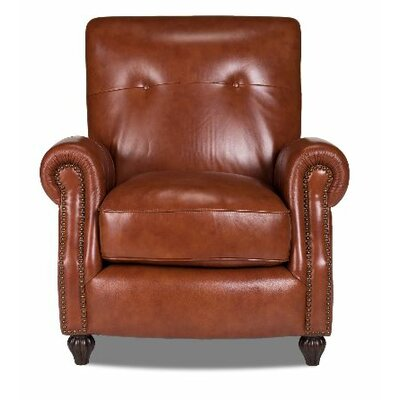 Opulence Home Benjamin Leather Press Back Arm Ch..