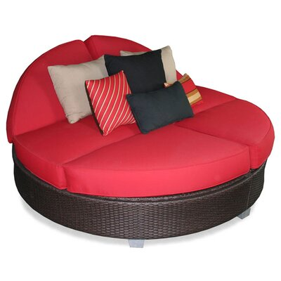 Patio heaven signature round double chaise lounge for Patio heaven
