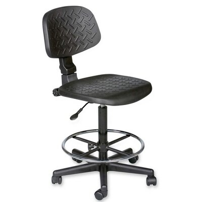 Balt Height Adjustable Trax Stool with Dual Wheel