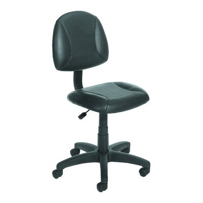 Boss Office Products Low-Back Leather Desk Chair