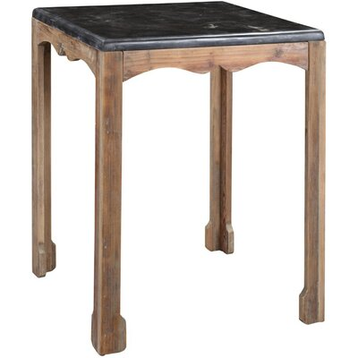 One Allium Way Amsler Side Table in Gray Wash
