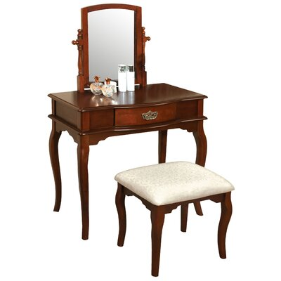 Hokku Designs Coreen Vanity Set with Mirror