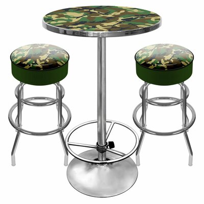 Trademark Global Hunt Camo Game Room 3 Piece Pub..