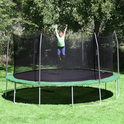 Skywalker 17' x 15' Oval Trampoline with Safety Enclosure & Reviews | Wayfair