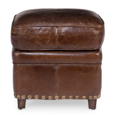 Sarreid Ltd Papa's Leather Ottoman