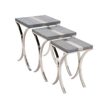 Woodland Imports Sleek 3 Piece Stainless ..