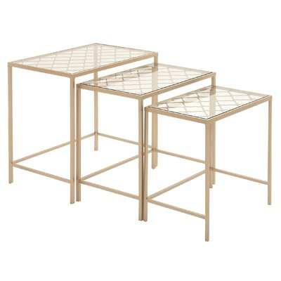 Woodland Imports Classy 3 Piece Nesting Tables