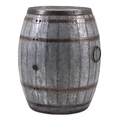Woodland Imports Vineyard Wine Barrel Storage End Table