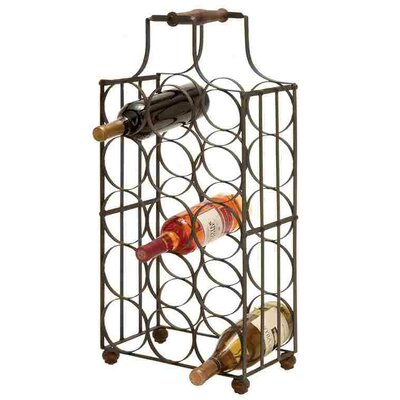 Woodland Imports 15 Bottle Floor Wine Rack