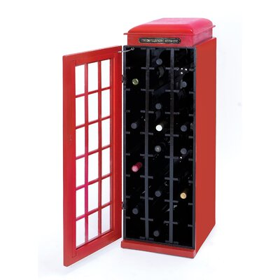 Woodland Imports 27 Bottle Floor Wine Cabinet