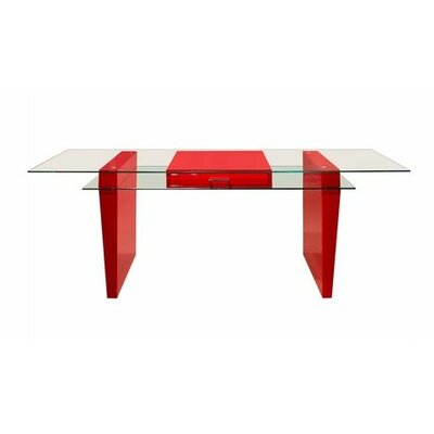 Sharelle Furnishings Crystal Executive Desk