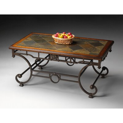 Butler Metalworks Coffee Table with Stone Inset Top
