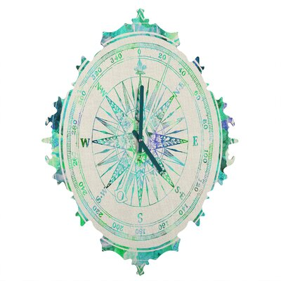 Deny designs bianca green follow your own path wall clock amp reviews