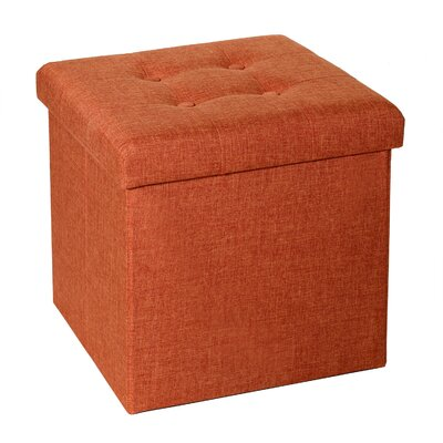 seville classics tufted foldable storage cube ottoman