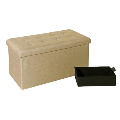Seville Classics Tufted Foldable Storage ..
