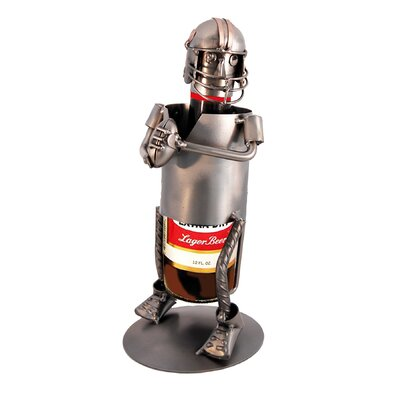 H & K SCULPTURES Football Beer 1 Bottle Tabletop..