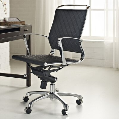 Modway Vibe Mid-Back Leather Office Chair