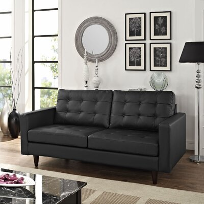 Modway Princess Leather Modular Loveseat