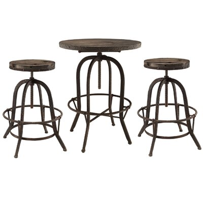 Modway Sylvan 3 Piece Pub Table Set