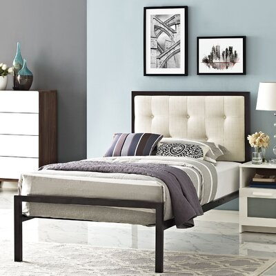 Modway Lottie Upholstered Fabric Platform Bed