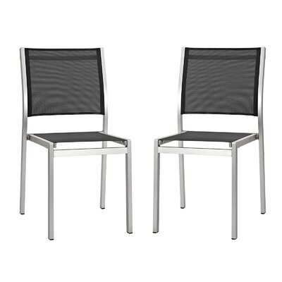 Modway Shore Outdoor Patio Aluminum Side Chair (Set of 2)