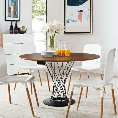 Modway Cyclone Wood Top Dining Table Wayfair