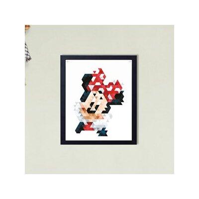 Graham & Brown Minnie Pixels Disney Framed Vintage Advertisement