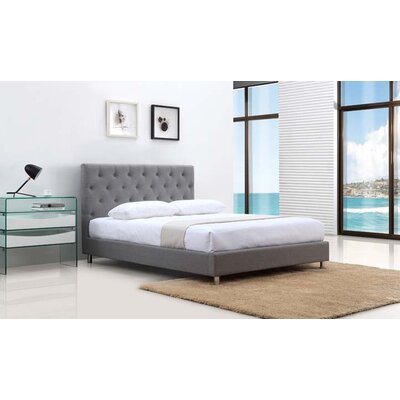 Casabianca Furniture Otto Fabric Queen Upholstered Platform Bed