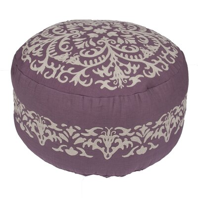Jaipur Living Inspired Floral Cotton Pouf Ottoman
