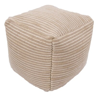 Jaipur Living Alma Textural Wool and Cotton Pouf Ottaoman