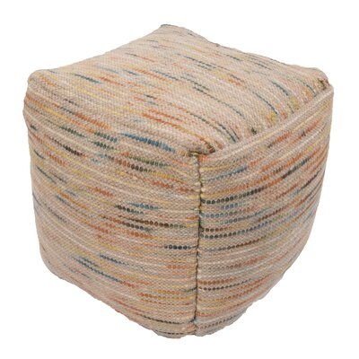 Jaipur Living Alma Textural Wool and Cotton Pouf Ottoman