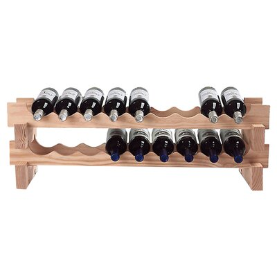 Wine Enthusiast Stackable Rack 18 Bottle Tableto..
