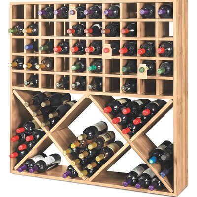 Wine Enthusiast Jumbo Bin Grid 100 Bottle Floor Wine Rack