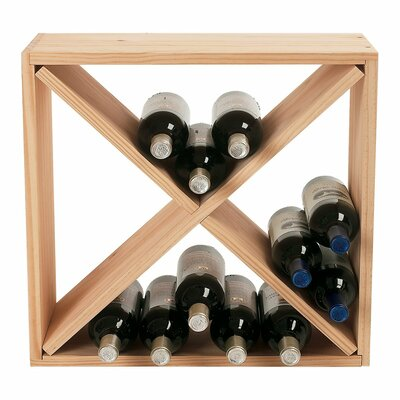 Wine Enthusiast Stackable Cube 24 Bottle Tabletop Wine Rack