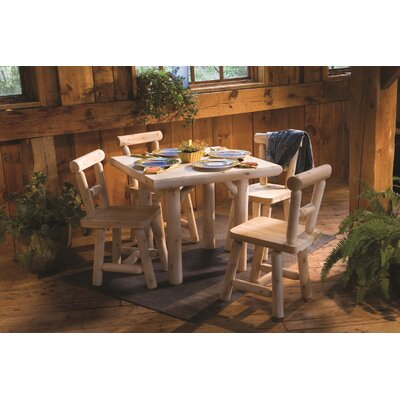 Rustic Natural Cedar Furniture 5 Piece Dining Set