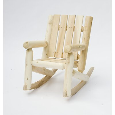 Rustic Natural Cedar Furniture Junior Cedar Log Rocking Chair