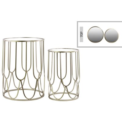 Urban Trends 2 Piece Nesting Table Set