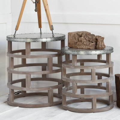 Laurel Foundry Modern Farmhouse Burley 2 Piece Nesting Tables