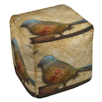 Manual Woodworkers & Weavers Bird of Collage 1 Ottoman