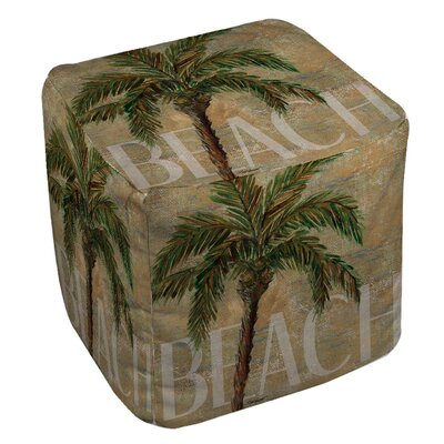 Manual Woodworkers & Weavers Beach Palm Ottoman