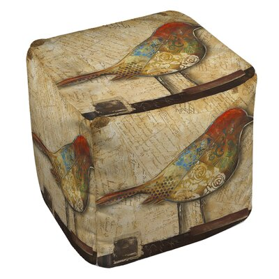 Manual Woodworkers & Weavers Bird of Collage 2 Ottoman