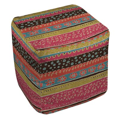Manual Woodworkers & Weavers Dream Big Bohemian Pouf Ottoman Image