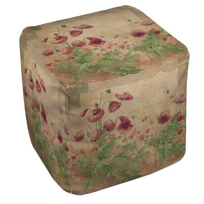Manual Woodworkers & Weavers Floral 1 Ottoman
