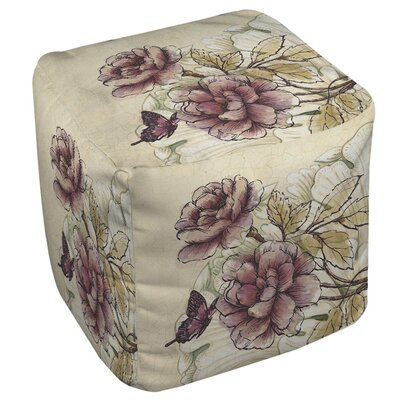 Manual Woodworkers & Weavers Rosette Butterfly Ottoman