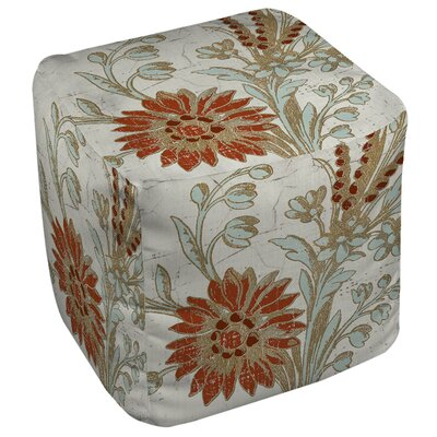Manual Woodworkers & Weavers Garden Tile 2 Ottoman