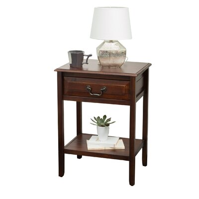 Beachcrest Home Glover Acacia Wood End Table