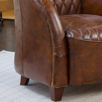 Darby Home Co Wilmette Tufted Leather Club Chair