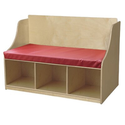 Wood Designs Reading Wood Storage Bench