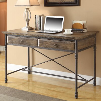 Coast to Coast Imports LLC Executive Writing Desk with 2 Drawer